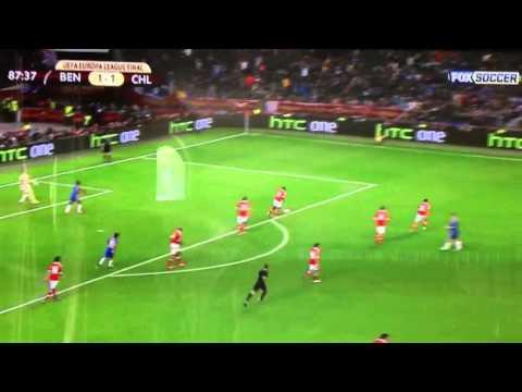 Frank Lampard Amazing shot Chelsea vs. Benfica 2013