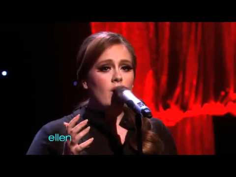Adele Someone Like You On Ellen DeGeneres Show Brit Winnner Adele Sings Someone Like You