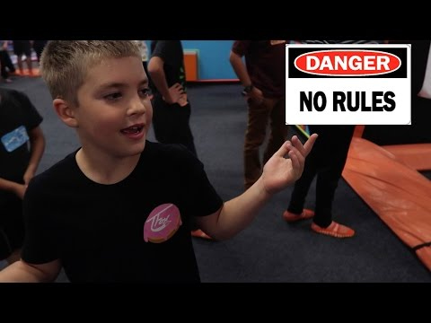 GETTING IN TROUBLE AT TRAMPOLINE PARK