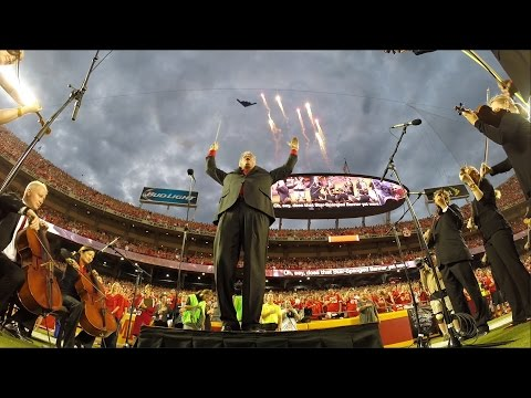 The Kansas City Symphony performs at Chiefs home opener