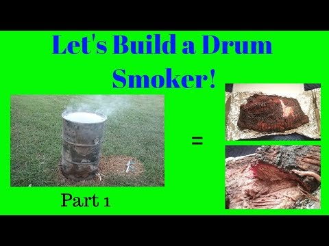 How To Build A Drum Smoker (UDS) -  Part 1 - Cleaning the 55 gallon Barrel