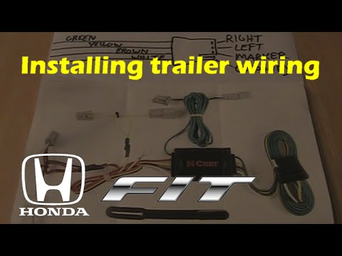 Honda FIT trailer wiring harness (CURT #56011) - YouTube
