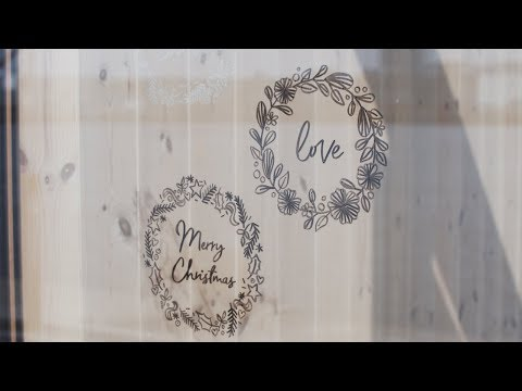 How to decorate windows and interiors with chalk pens - DIY by Søstrene Grene