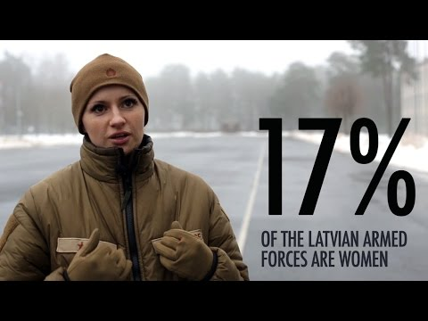 Latvian Army Female Officer