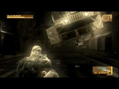 Metal Gear Solid 4 - Extreme Big Boss Emblem Run - Act 3 Bike Chase & Raging Raven