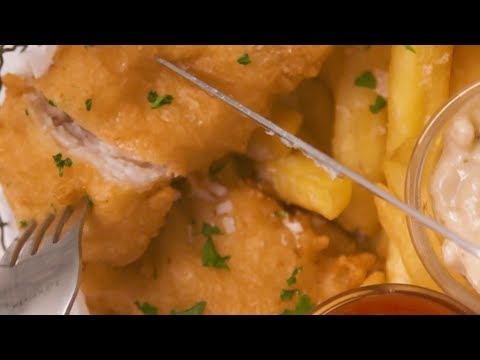 Extra Crispy Battered Fish And Chips
