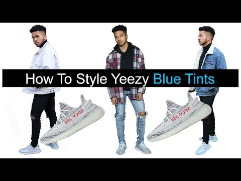 How to Style Your Yeezy 350 V2 Blue Tints !!! || Yeezy Blue Tint Lookbook