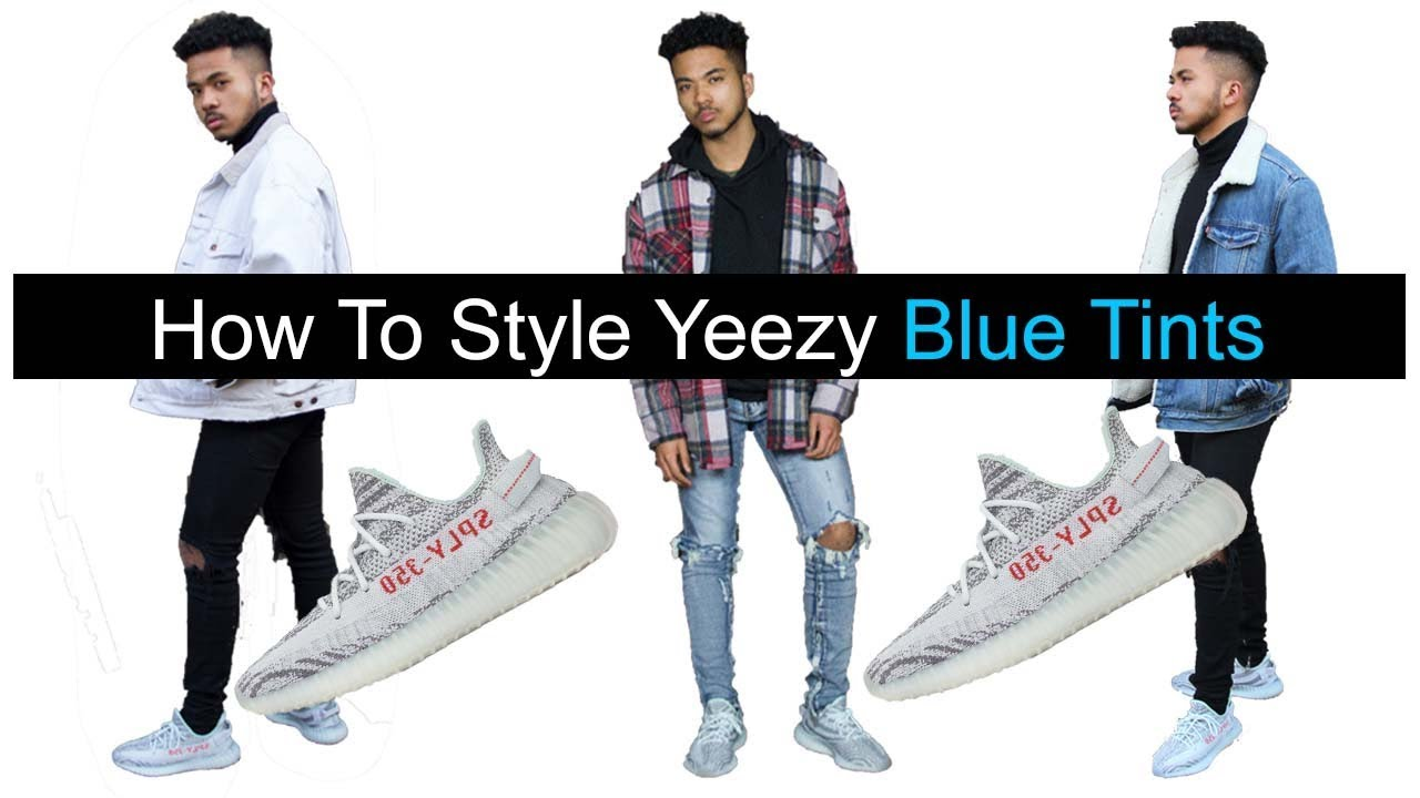 wonderful outfit for yeezy blue tint gold