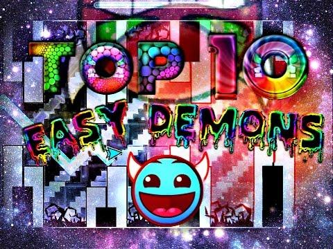 Top 10 Easy/Free Demons In Geometry Dash  | 100 FREE ★