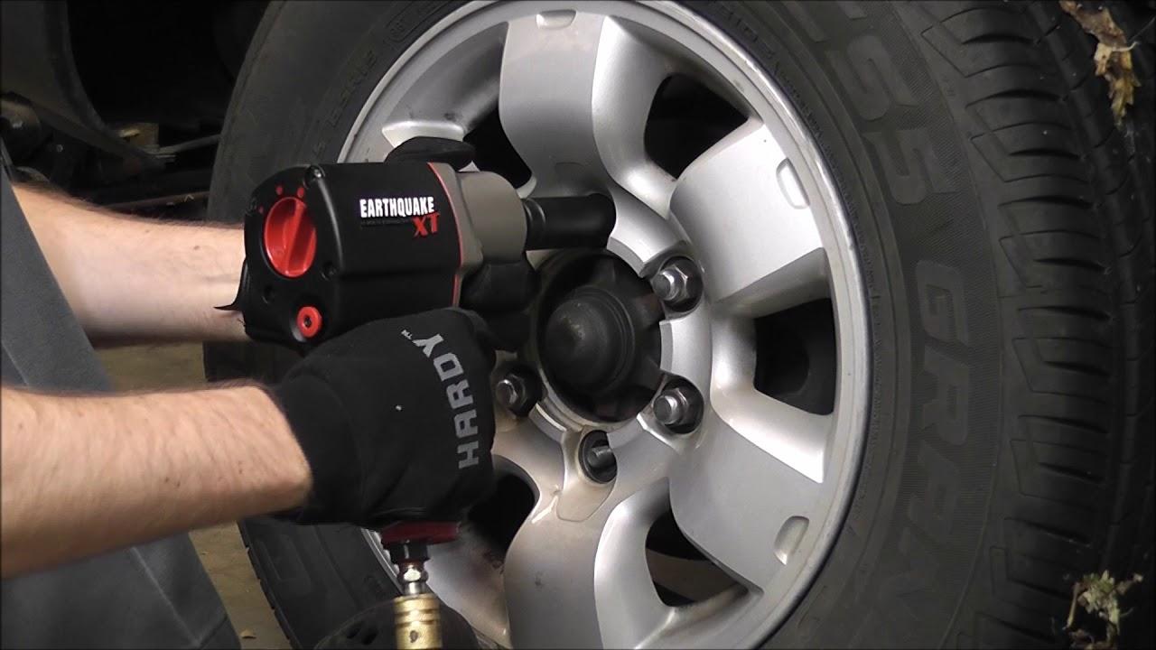 Earthquake Xt Impact Wrench Removing Lug Nuts