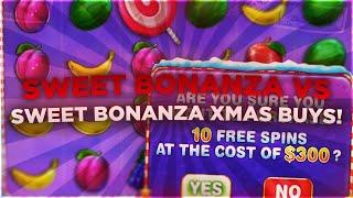 SWEET BONANZA VS SWEET BONANZA XMAS BONUS BUYS! (duelbits)