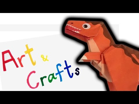 ORIGAMI   how to fold Dinosaur Tyrannosaurus Part 1 and 2