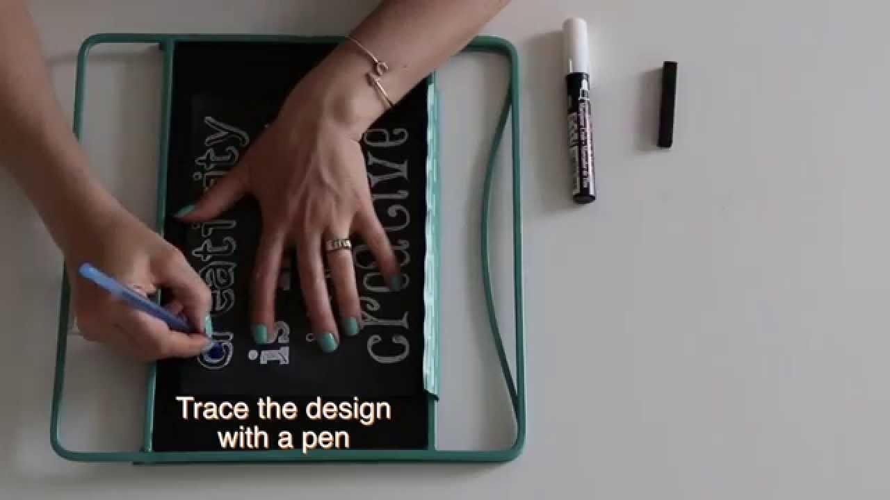 diy chalkboard design the secret to making it easy youtube