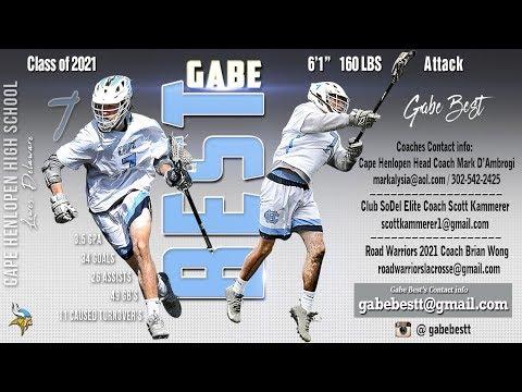 Gabe Best, 2021 - 2018 Highlights, Cape Henlopen High School