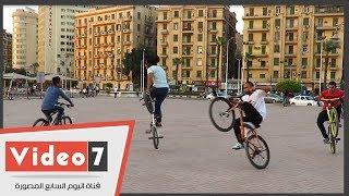 هذا ما حدث فى قلب ميدان التحرير.. عرض خطير بالعجل