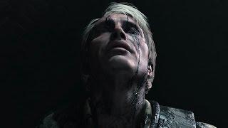 Hannibal Mizumono Rain Scene in Death Stranding trailer featuring Mads Mikkelsen Rain Effects
