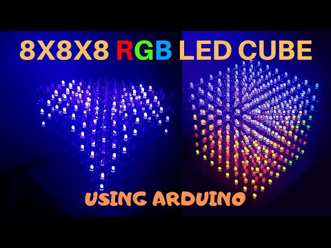 How To Make A 8X8X8 RGB LED Cube Using Arduino