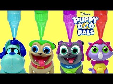 Disney Jr. PUPPY DOG PALS, Pals On a Mission Rolly, Bingo, Hissy, A.R.F. Bath Paint IRL / TUYC