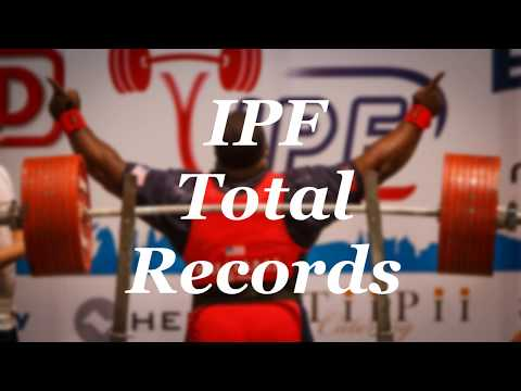 All IPF RAW Total World Records Male Open (-59kg to +120kg)
