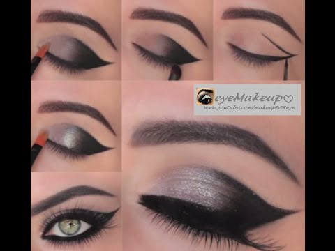 PARTY EYE MAKEUP FOR CATS EYE