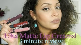 3 Minute Review- Ulta Matte Lip Cream