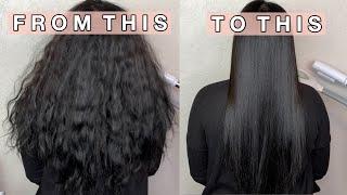 HOW I STRAIGHTEN M¥ HAIR | Kelly Kay