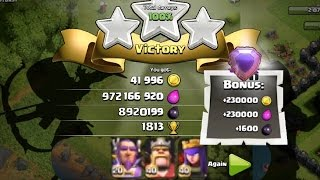 Clash of clans - 300 Golems & 300 Giants (mass Gameplay) Clash Of Clans - Best Attack Ever !!