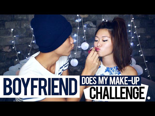 Boyfriend Does My Make-Up Challenge - PrettySmart: EP 3