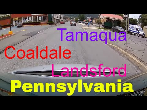 Driving downtown - Tamagua - Coaldale -Lansford - Pennsylvania - USA