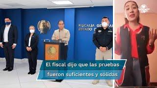 El fiscal Adrián López Solís indicó que las pruebas que obtuvo la institución a su cargo fueron suficientes y sólidas para determinar la responsabilidad del joven en el crimen