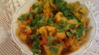 Cauliflower Tomato Curry Gobi Tomato Sabzi-cauliflower Recipes