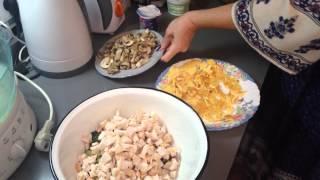 ФИТНЕС РЕЦЕПТЫ белковый салат ( вариант 2)