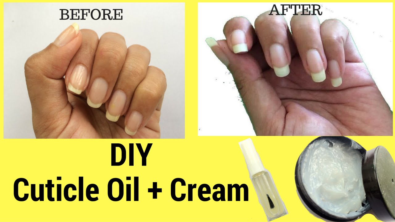How to grow Nails Fast? DIY Cuticle Oil + Cream - YouTube