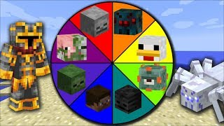 Minecraft MOB SPIDER WHEEL OF FORTUNE / SPAWN DANGEROUS SPIDERS IN MINECRAFT !! Minecraft