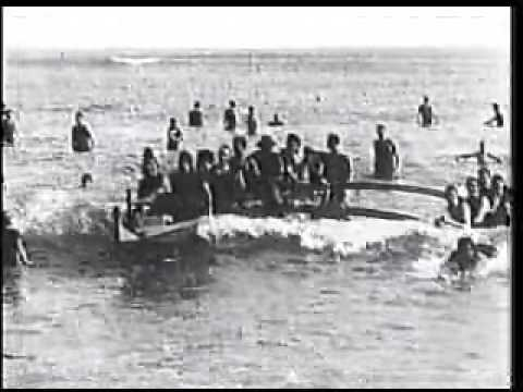 Thomas Edison´s Hawaii Old Rare Footage 1906 Pt 2 Surf  Scenes Waikiki + Hawaiian Party