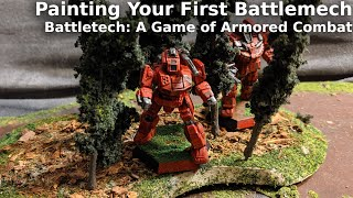 Painting your First Battlemech from Battletech: a Game of Armored Combat