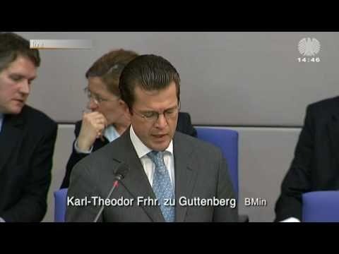 Guttenberg in der Fragestunde im Bundestag zur Plagiatsaffäre