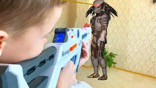 NerfWar Alien Predator Invasion Вторжение инопланетного Хищника