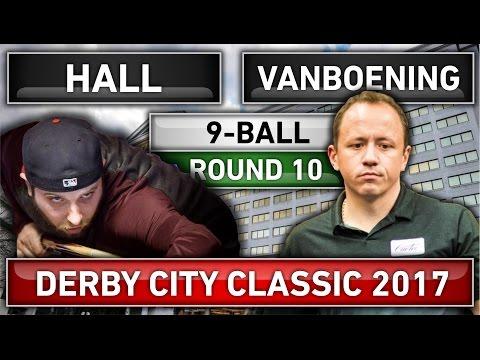 Shane Van Boening v Justin Hall ᴴᴰ 2017 Derby City Classic 9-ball Pool Round 10