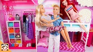 인형놀이 드라마 이층 침대 학교 아침 일상 밀착중계 공주 장난감 놀이 드레스 옷입히기 Barbie Ken Bunk Bed Morning Routine for school|보라미TV