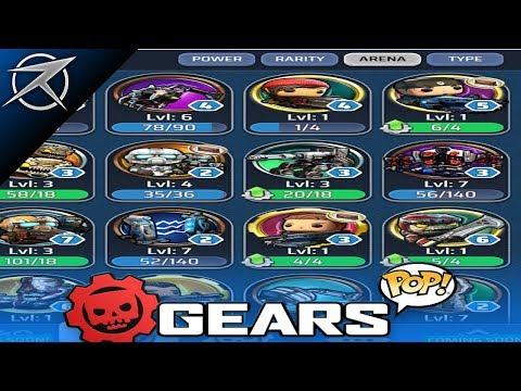 """GEARS POP """"ALL CHARACTER PINS"""" IN GAME STATS & POWERS! (GEARS OF WAR POP)"""