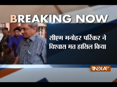 Goa CM Manohar Parrikar Wins Confidence Vote In State Assembly