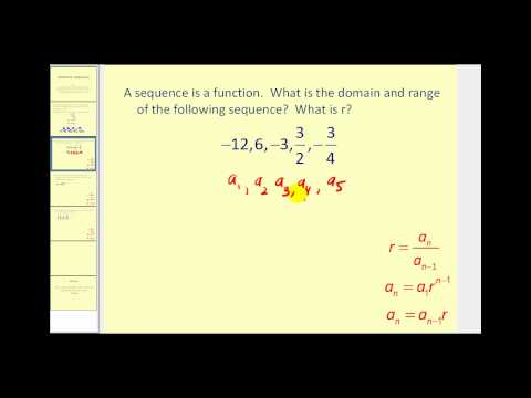 Explicit Formulas for Geometric Sequences | College Algebra