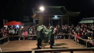 砥川の獅子舞 - 催合獅子舞 - 平成30年砥川神社奉納