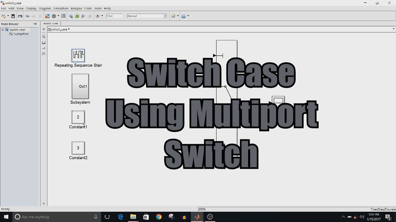 Simulink Tutorial - 15 - Switch Case Using Multiport Switch