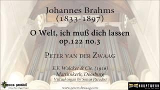 Johannes Brahm - O Welt, ich muss dich lassen, op.122 no.3