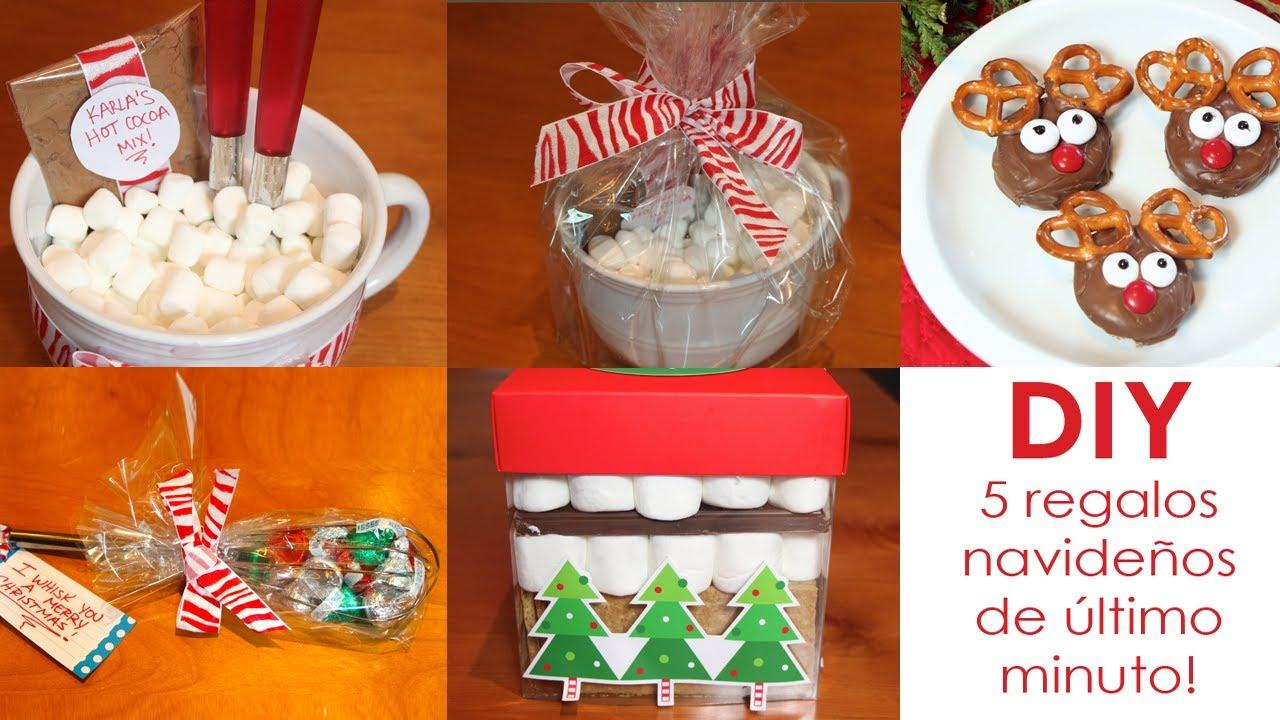 Diy 5 regalos navide os de ltimo minuto youtube - Ideas para regalos navidenos ...