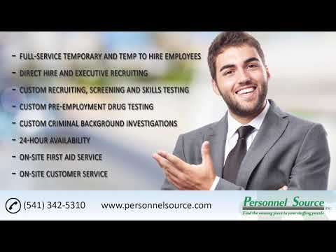 Personnel Staffing | 541 3425310 | Personnel Source Inc