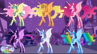 My Little Pony Mane 6 Transforms Into Nightmare Moon Alicorn Surprise Egg and Toy Collector SETC