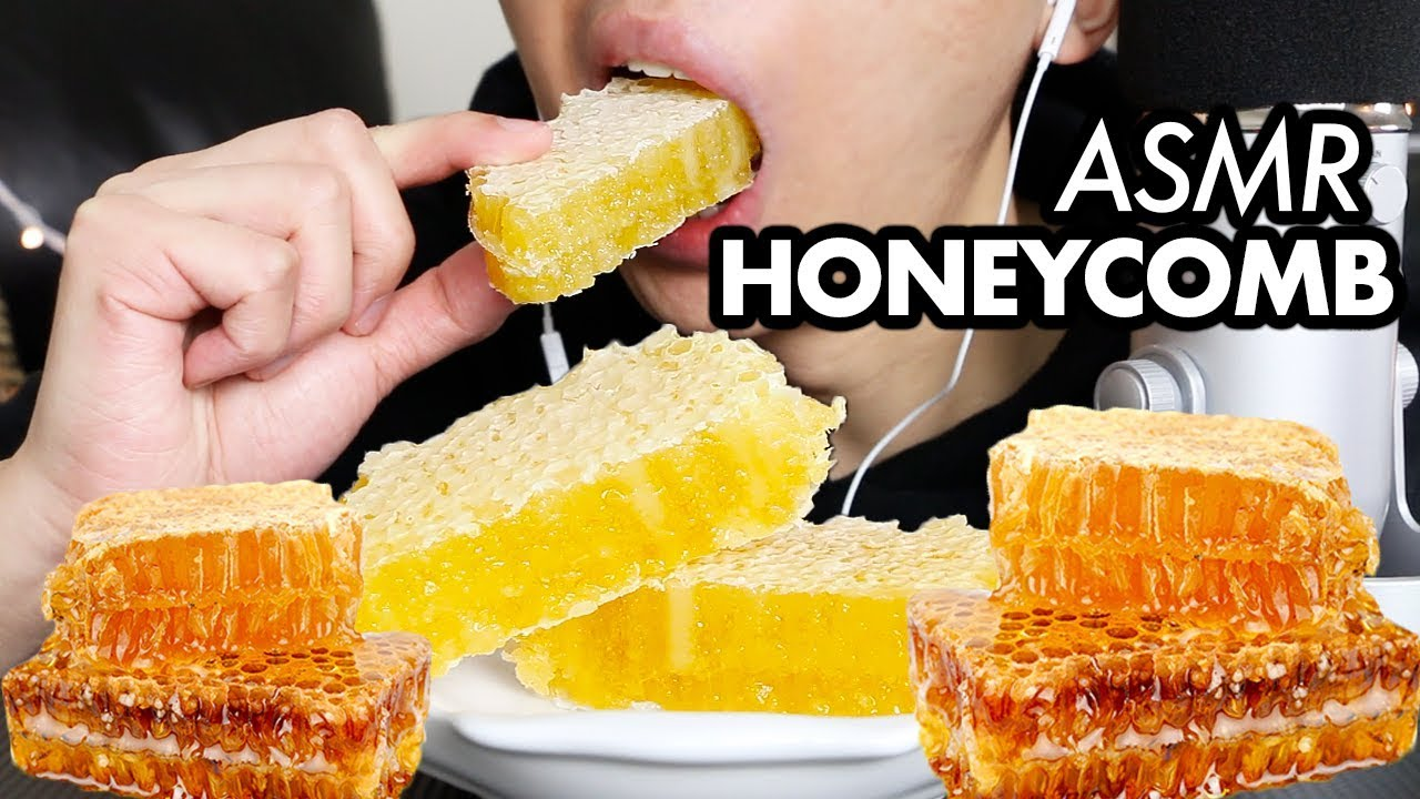 Asmr Raw Honeycomb Mukbang No Talking Extreme Sticky Eating Sounds Eating Honeycomb Asmr